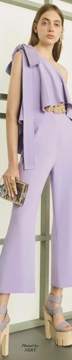 Elie Saab Resort 2017 purple jumpsuit @roressclothes closet ideas #women fashion outfit #clothing style apparel