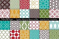 Seamless Moroccan Patterns & Tiles by Melissa Held Designs on @creativemarket