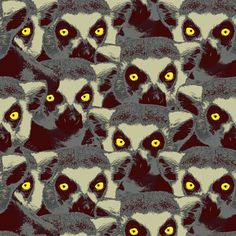 lemur_yellow fabric by susiprint on Spoonflower - custom fabric