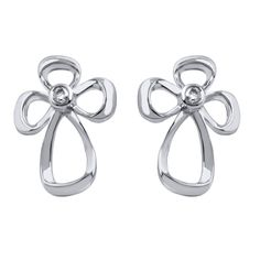 Jessica Simpson Diamond Accent Cross Earrings in Sterling Silver. cross earrings in sterling silver. Great gift idea for that someone special on an Anniversary or Birthday. Diamonds of IJ color and I3 clarity embedded in bezel set. Solid 925 Sterling Silver GUARANTEED, Authenticated with a 925 Stamp. As a responsible citizen of civil society, Diamond Hub has applied stringent policies and checks to ensure that all our products are conflict-free.