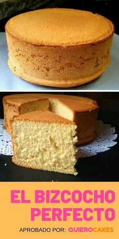 BIZCOCHUELO CASERO O BIZCOCHO: Recetas fáciles ¡Esponjosos! The perfect sponge cake is always fluffy, its flavor is balanced, with the juiciness at its right point and a unique taste. Basic Sponge Cake Recipe, Sponge Cake Recipes, Homemade Cake Recipes, Baking Recipes, Dessert Recipes, Desserts, Pan Dulce, Food Cakes, Cupcake Cakes