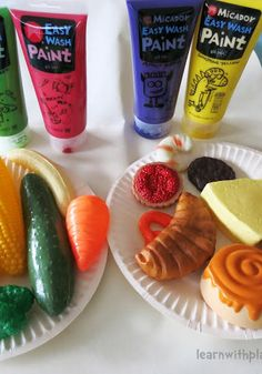 Painting with Plastic Food