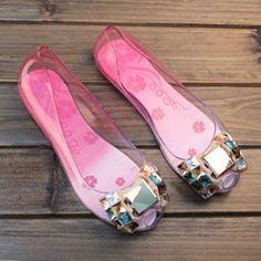 Sandálias de salto alto sapatos de salto tampa promoção por tempo limitado Melissa 2015 dedo aberto calcanhar plana sapatos transparentes sandálias femininas geléia
