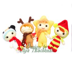 Christmas Amigurumi Toys   Mini tiny lalylala   Deer Tree Elf Snowman Star Crochet Organic Handmade Toy