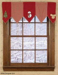 Image detail for -Christmas Tree Mantle Scarf / Valance by Country Village Shoppe