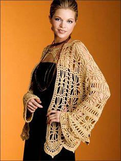Crochet - Crochet Clothing - Jacket & Coat Patterns - Golden Jacket