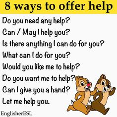 8 Ways to offer help