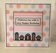 Handmade personalised birthday card for wife
