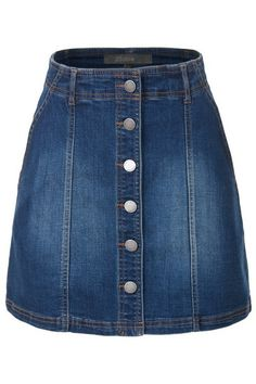 Topshop Denim Button Front Skirt as seen on Hilary Duff Button Down Denim Skirt, A Line Denim Skirt, High Waisted Denim Skirt, Button Front Skirt, Blue Denim Skirt, Button Up Skirts, A Line Skirts, Mini Skirts, Short Skirts