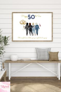 #personalisedbirthdaygift #giftsforher #personalisedbirthday #bestfriendgifts Personalized Best Friend Gifts, Personalized Birthday Gifts, 50th Birthday Gifts, Customized Gifts, Gifts For Friends, Gifts For Her, Happy 50th, Presents For Men, Pretty Designs