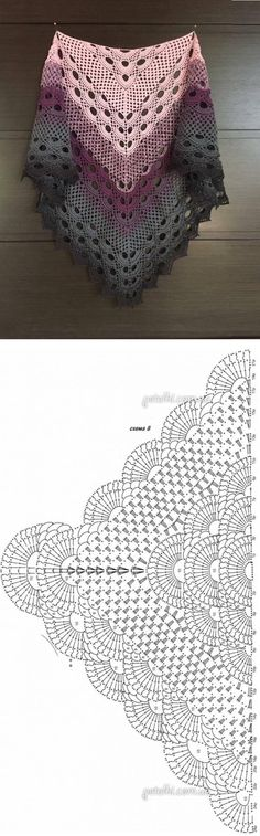 Crochet Beautiful Shawl (Sashay Yarn Schal häkeln 1 Source by . Shawl Crochet, Crochet Poncho Patterns, Crochet Shawls And Wraps, Crochet Chart, Love Crochet, Crochet Scarves, Crochet Clothes, Crochet Stitches, Knitting Patterns
