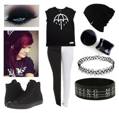 """""""Bring Me the Horizon Outfit #2"""" by mrosep on Polyvore featuring Converse, Patagonia and INDIE HAIR"""