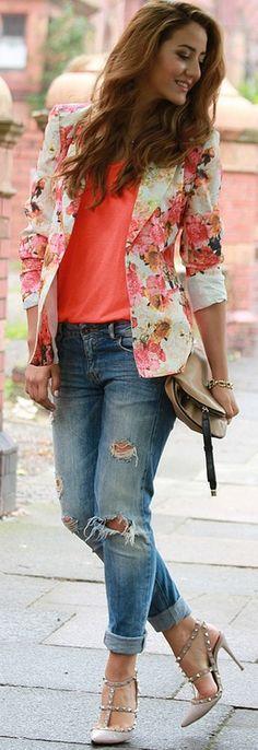 Floral Blazer Glam & Glitter. I LOVE THIS!!!