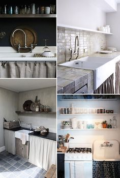 friday finds: skirted kitchen curtains / @sfgirlbybay