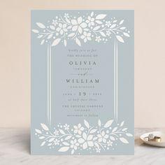 """trellis"" - Gloss-press™ Wedding Invitation in Dew Drop by Melanie Kosuge. Wedding Favor Tags, Printable Wedding Invitations, Elegant Wedding Invitations, Wedding Programs, Invitation Cards, Wedding Cards, Wedding Trellis, Wedding Letters, Reception Card"