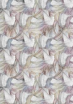Design competition for Liberty Fabrics© Sophie Collom 2012 Textiles, Textile Patterns, Textile Prints, Color Patterns, Print Patterns, Textile Design, Surface Pattern, Pattern Art, Pattern Design