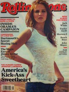 the #hungergames #jenniferlawrence america's kick-ass sweetheart