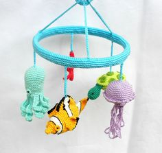 Under the sea mobile, Fish baby mobile