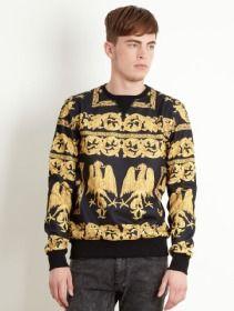 Criminal Damage Sweater - Court Black - BTS10906BLK