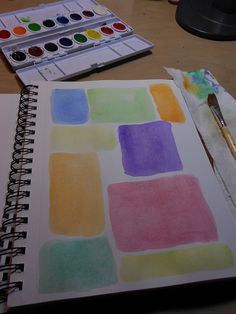 ...add watercolor blocks to your journal