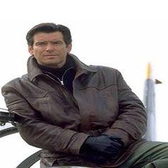 James Bond Style Brown Leather Jacket,mens jacket,Brown leather jacket,James Bond Style leather jacket,