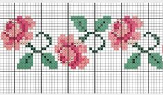 Beaded Cross Stitch, Cross Stitch Borders, Cross Stitch Rose, Cross Stitch Alphabet, Cross Stitch Flowers, Cross Stitch Charts, Cross Stitch Designs, Cross Stitching, Cross Stitch Embroidery