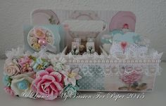 Tilda Altered Teabox & Handmade Embellishments