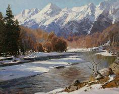 Winter river Aleksander Babich