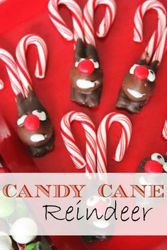 Candy Cane Reindeer :: Christmas Craft and Treat Idea