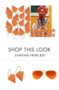 """""""Dangle Drop..............."""" by neotericstudio ❤ liked on Polyvore featuring Ray-Ban"""