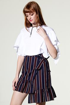 Hellen Unbalanced Wrap Skirt Discover the latest fashion trends online at storets.com