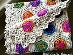 "Nana's Crochet Creations: Nana's ""Rainbow Hexagon Blanket"" - free crochet pattern by Des Maunz."