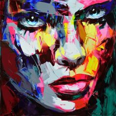 Françoise Nielly - UNTITLED 701 43.3X43.3 inches  Oil on canvas, palette knife technique