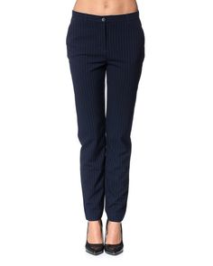 Vero Moda VMSUIT NW PANT – Pants – Blue and black