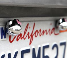 Hello Kitty Car License Plate Bolt Covers