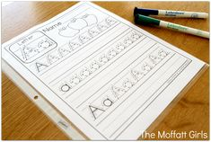 Print these FREE handwriting sheets, place in sleeve protectors and use a dry erase marker!  (Save on ink and paper!)