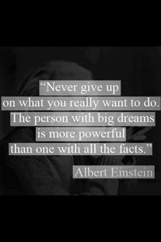 Albert Einstein quote - Perfect for my son who hates trying new things because he is complacent with what he knows.