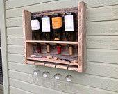 Free Shipping - Simplistic - reclaimed wood wine rack