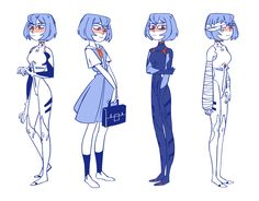beans — I drew Rei! Rei Ayanami, Neon Genesis Evangelion, Manga Illustration, Character Illustration, Character Concept, Character Art, Nursery Drawings, Cute Art Styles, Poses