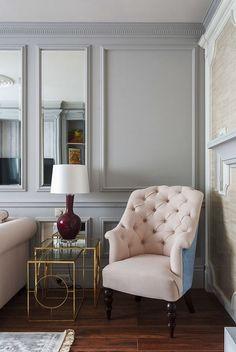 Klasszikus lakberendezés kétszobás lakásban - 52m2-es otthon klasszicista stílusban