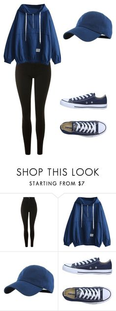 """""""Untitled #139"""" by kaylagutz on Polyvore featuring Topshop and Converse"""