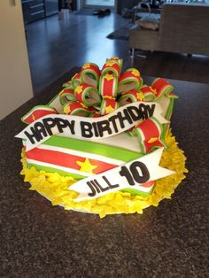 Suriname birthday cake