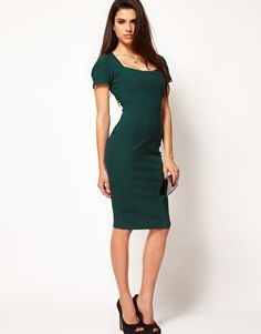 Hybrid Round Neck Pocket Pencil Dress. Great casual office wear for career women. From Asos