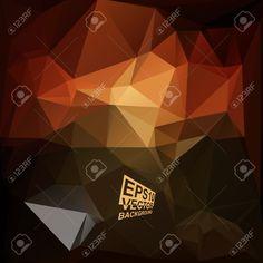 Multicolor (Brown, Rojo) Plantillas De Diseño. Geométrico Fondo Moderno Triangular Abstracta. Ilustraciones Vectoriales, Clip Art Vectorizado Libre De Derechos. Pic 33083892.