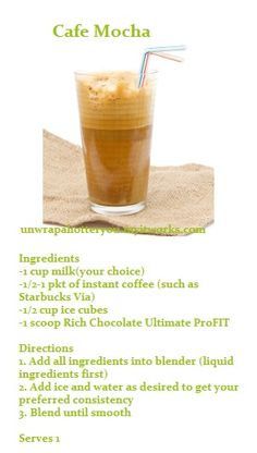 ItWorks Recipe - Cafe Mocha     Add me on Facebook!     http://facebook.com/unwrapahotteryou