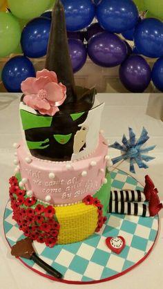 Wizard of Oz themed cake.  Sweet 16 cake. Quincenera cake. Wicked theme cake