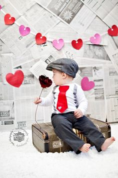 Newsboy infant valentines day #boy valentine