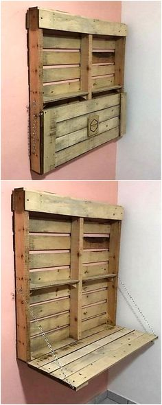 wood pallets wall rack