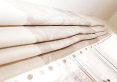 Bespoke handmade Roman Blind in Sarah Hardaker fabric Window Dressings, Interior Design Companies, Hand Painted Furniture, Roman Blinds, Soft Furnishings, Bespoke, Kitchen Design, House Styles, Joy