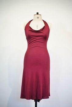 Our Rita halter neck dress in 100% silk jersey   #Classicdress #vintage #ellastyle #vintagedress #foreverfashion #Tangodress #tangoDance